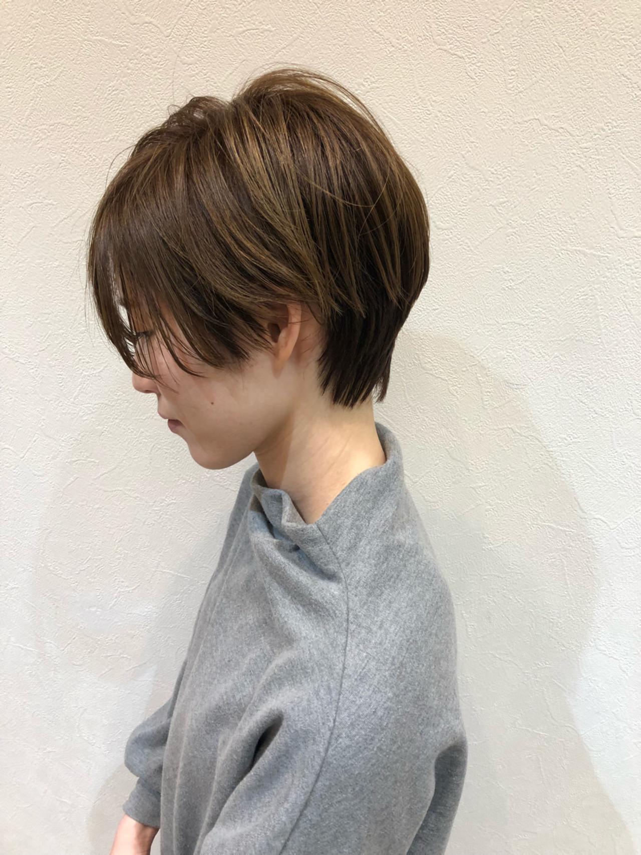 襟足長めのショートはタイトシルエットに 谷川和也 | Well'sGRANDE 奈良店