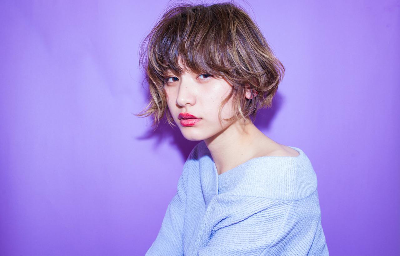 切りっぱなしボブ風こなれベリーショート 内田 一也 | hair/nail space a:le