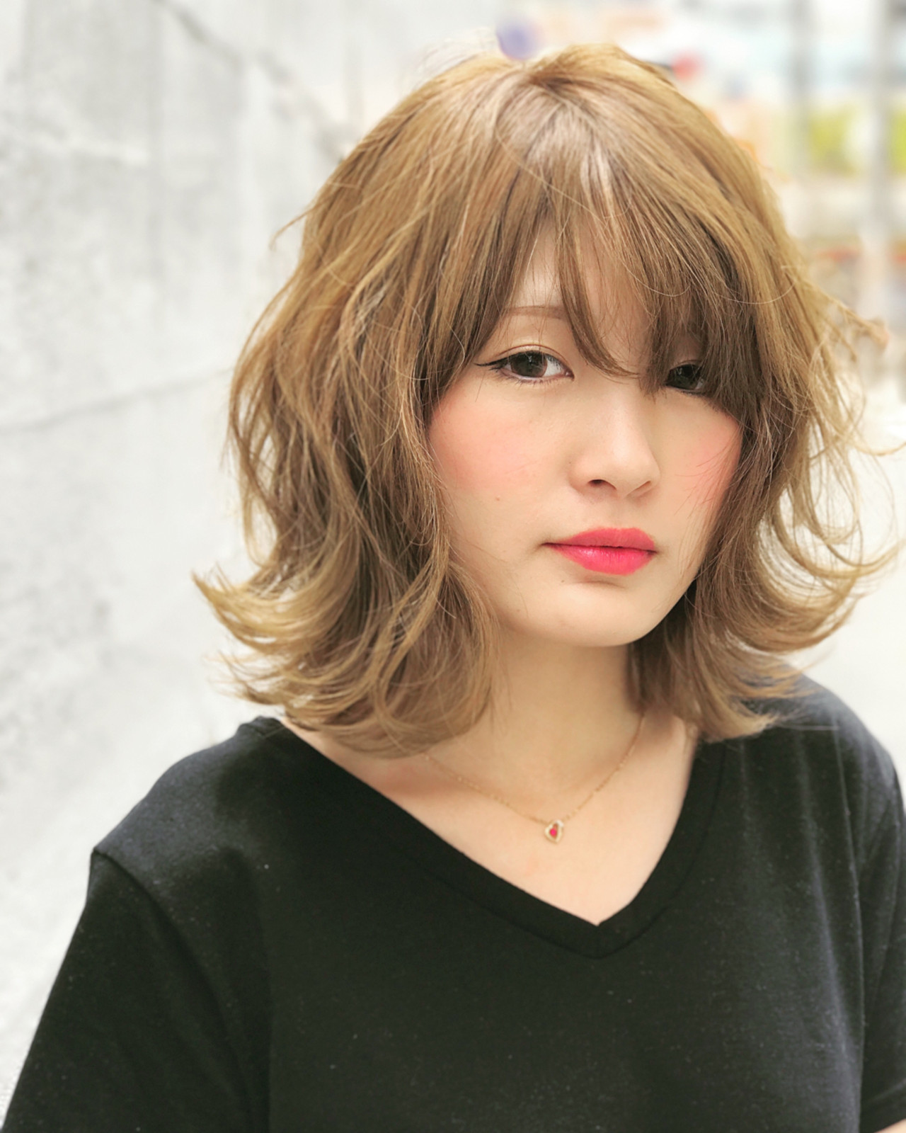 ハイトーン ミディアム 透明感 外国人風 ヘアスタイルや髪型の写真・画像