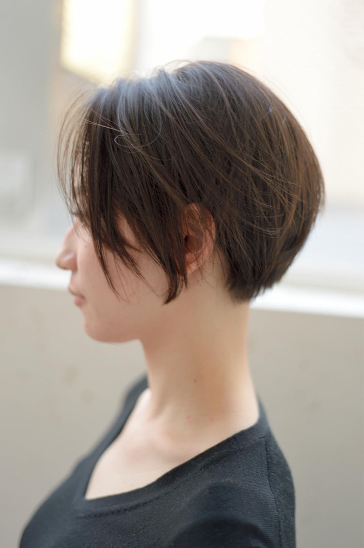 耳後ろの髪がスッキリ♡華奢見えショートヘア 郡司 泰之 / butterfly青山 | butterfly
