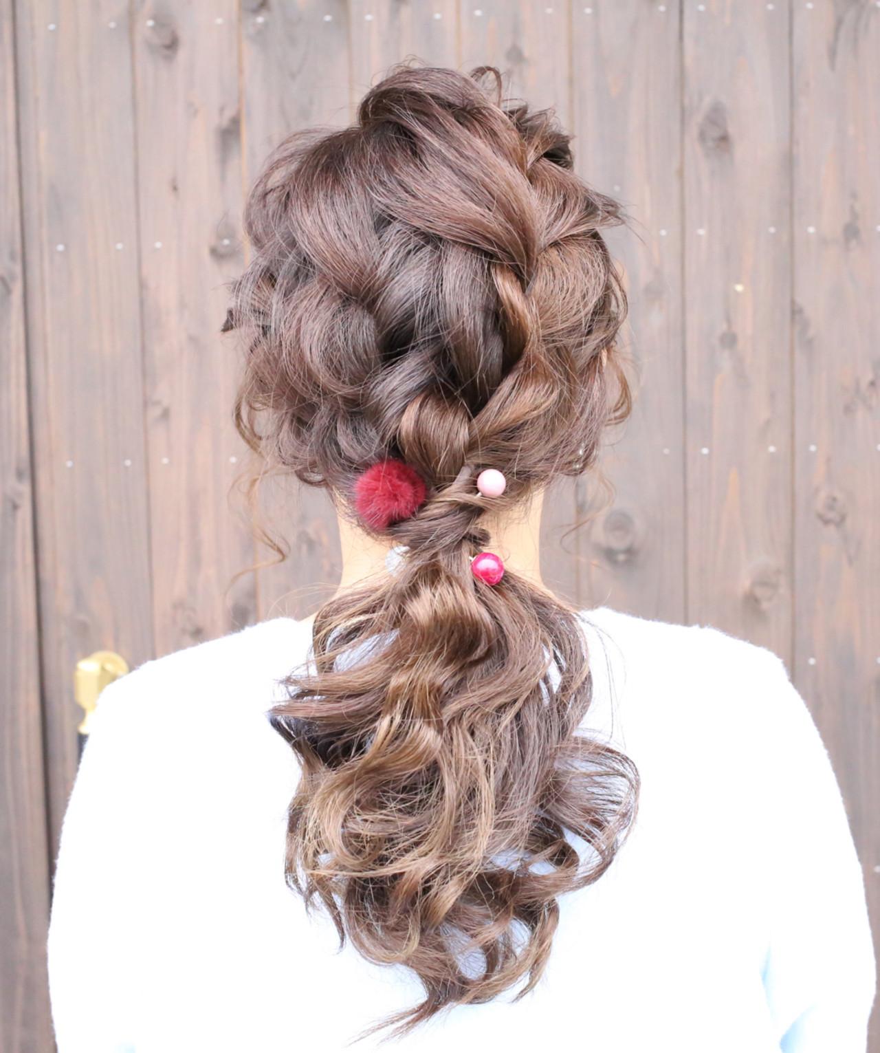 ザクザク編み込んだ質感がアクセントのポニー 宝蔵 幸正 | HairZone