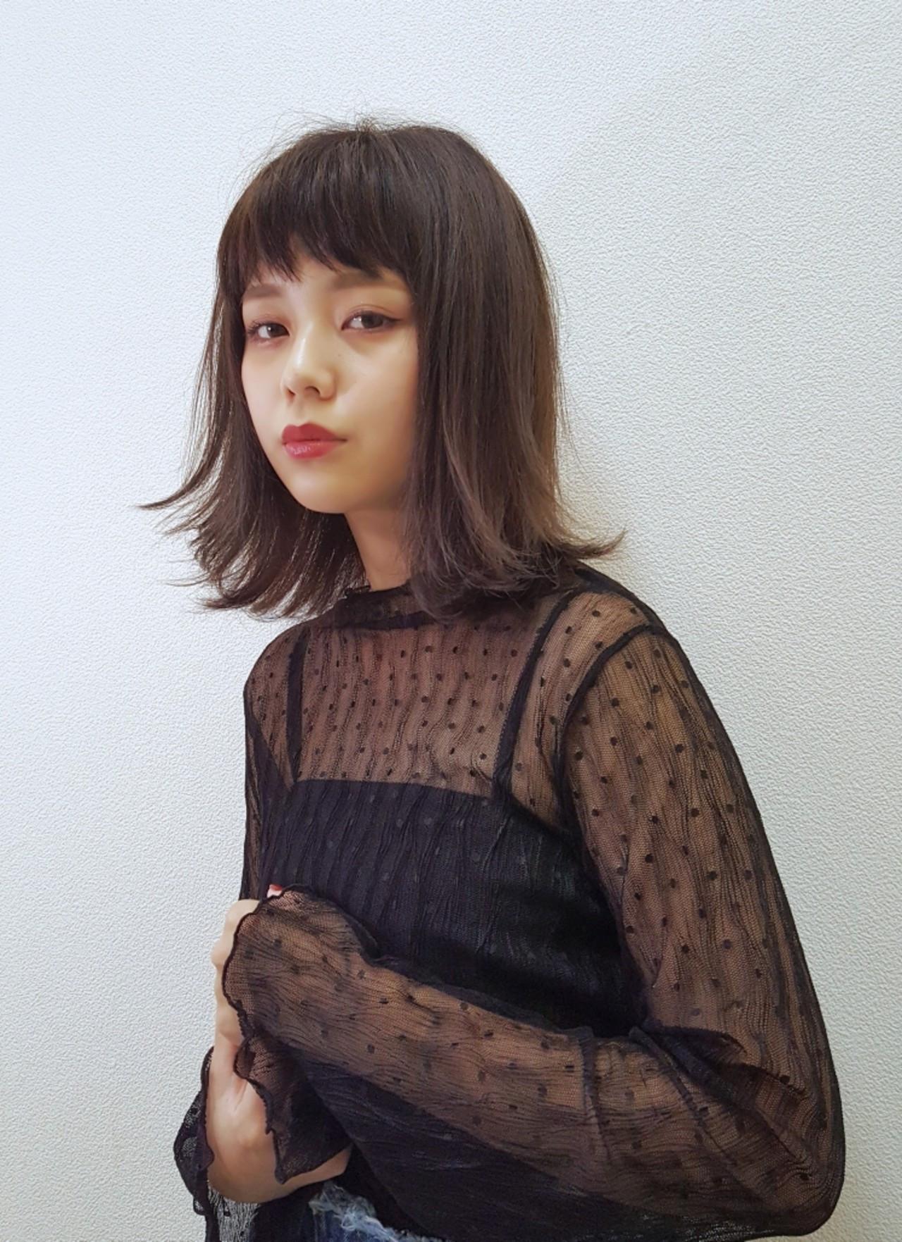 フリンジバングでこなれ外ハネボブに! Naoko Miura