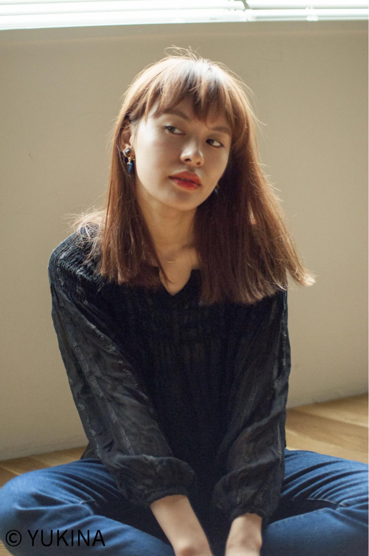 ブラントカットでモードに仕上げ♡ YUKINA / HOMIE TOKYO