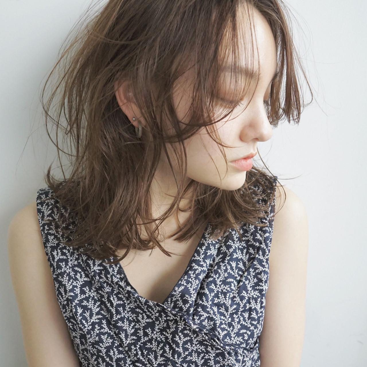 色っぽさあり♡なカジュアル外ハネパーマヘア UEKI/nanuk