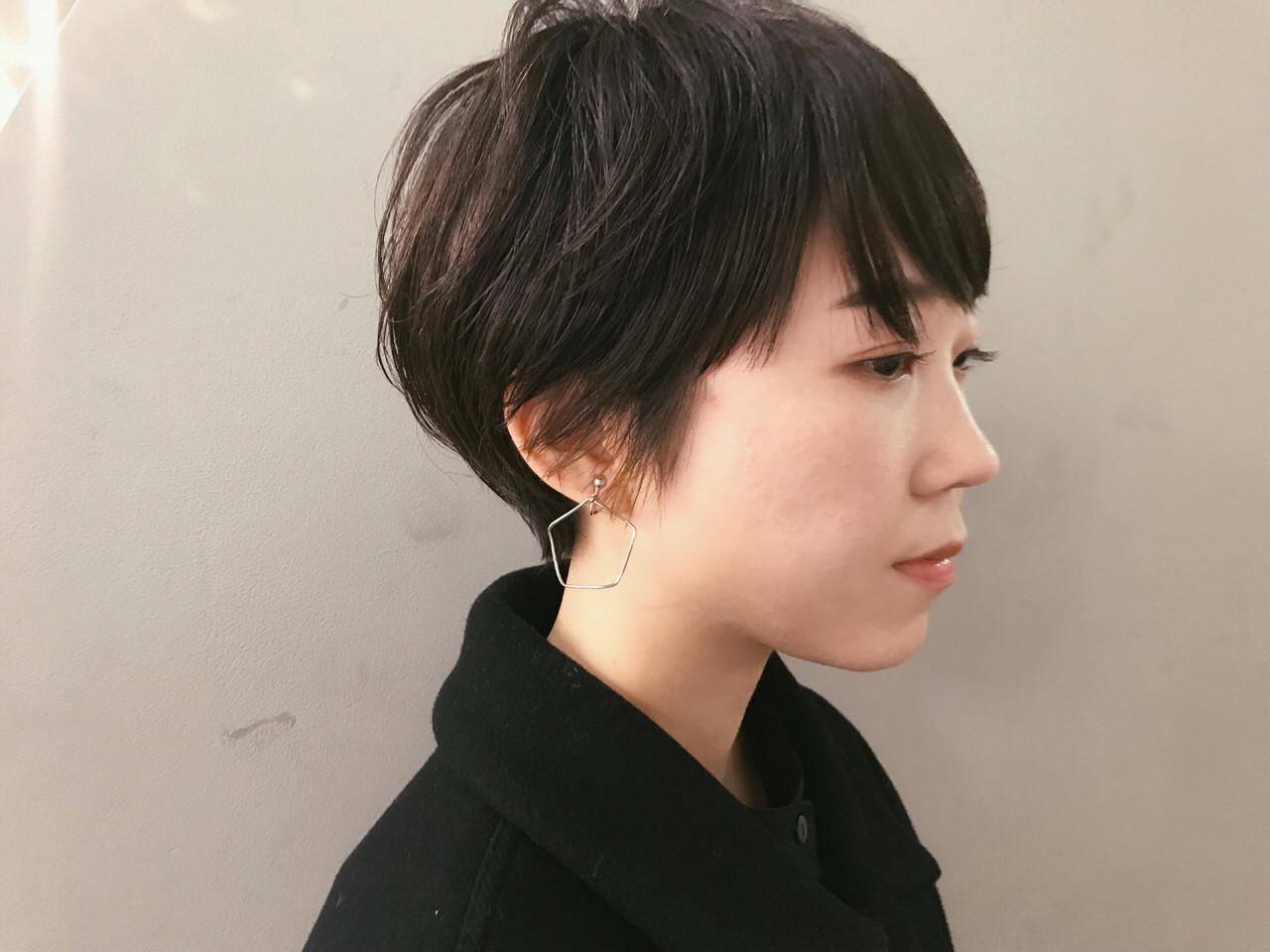 黒髪コンパクトショートでカッコよく 仙頭郁弥