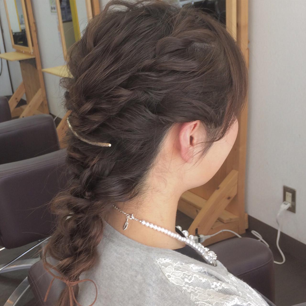 両サイド編み込みがアクセントの編みおろし ヤマナカサトル | DIOR of Hair