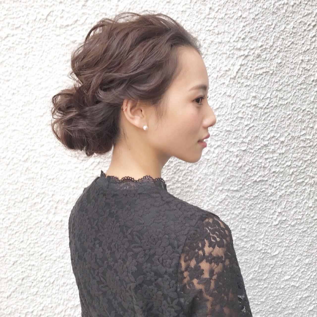 まとめ髪ですっきりとアレンジして 三大寺 慶悟