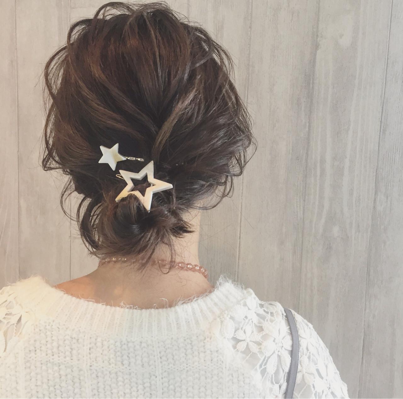シニヨンスタイルでスッキリとまとめ髪に 宮田 恵里香