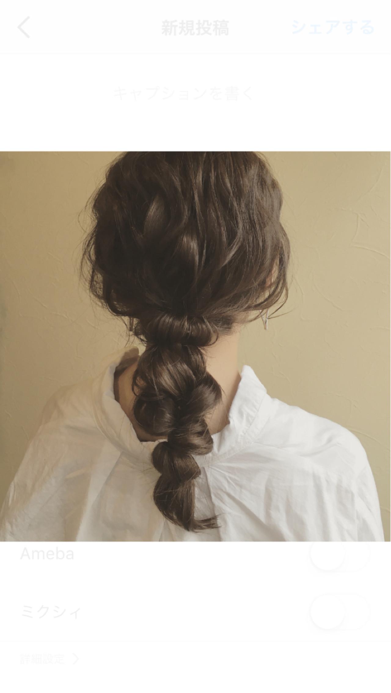 くるりんぱ フェミニン ヘアアレンジ 大人かわいい ヘアスタイルや髪型の写真・画像
