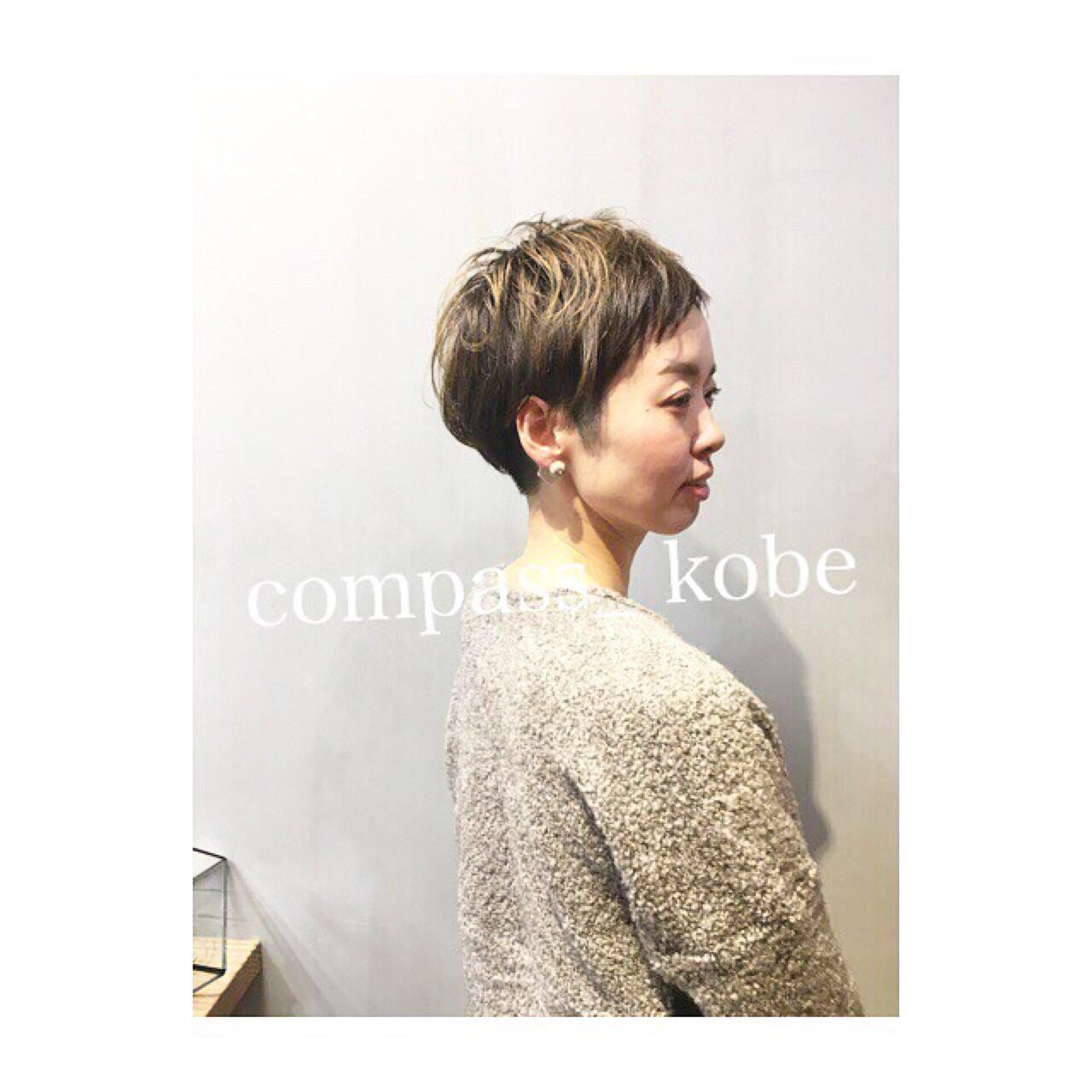 キュートなショートマッシュ×デザインカラー♡ COM PASS タイチ