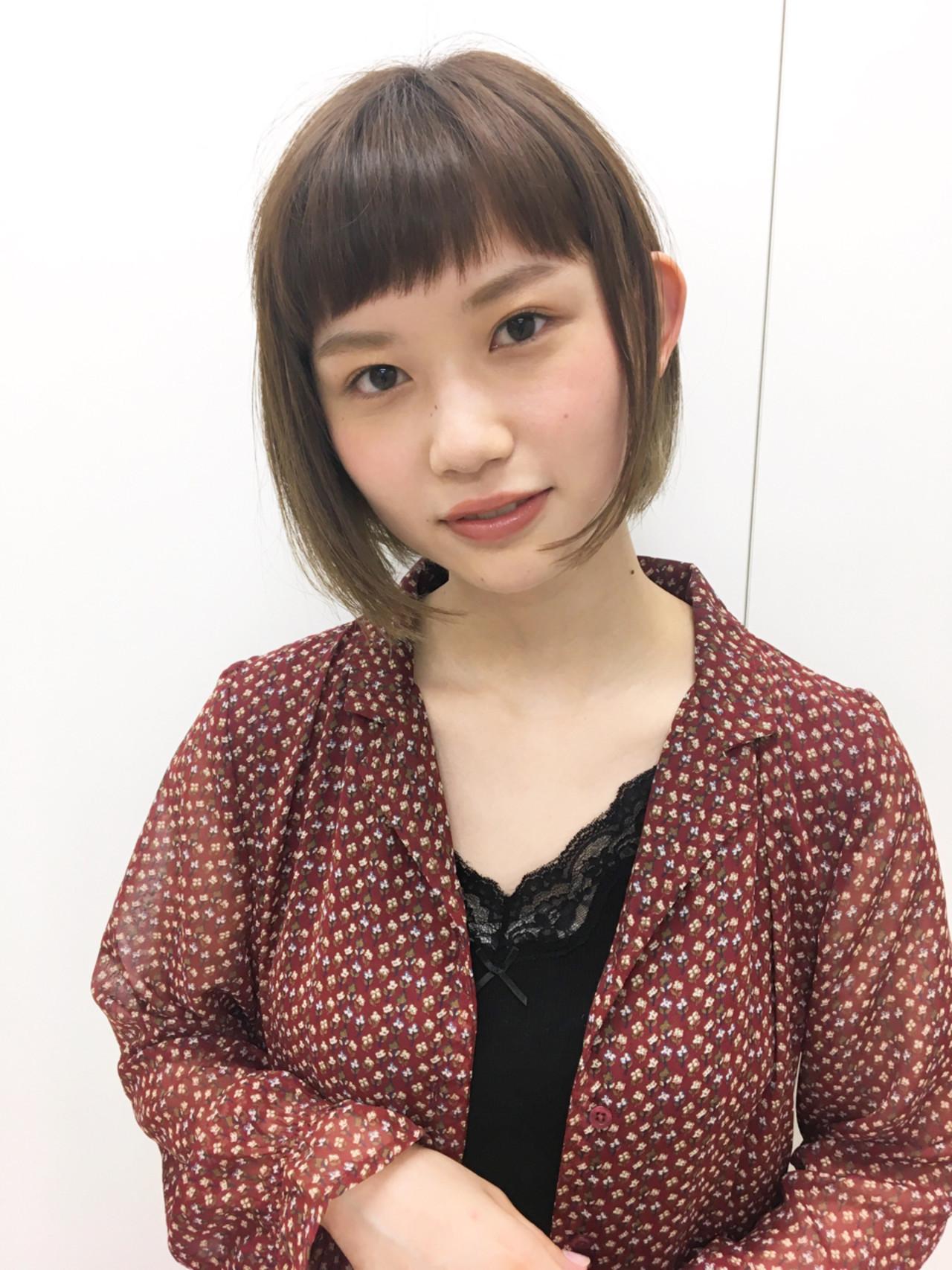 短め前髪がアクセント♡シンプルボブ 今泉孝記