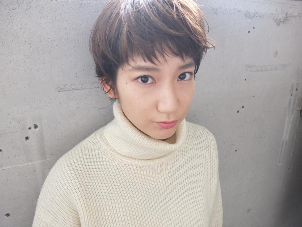 流し前髪のベビーバングでムーディなショートスタイル 金子 奈那美 | FAIR LADY shimokitazawa