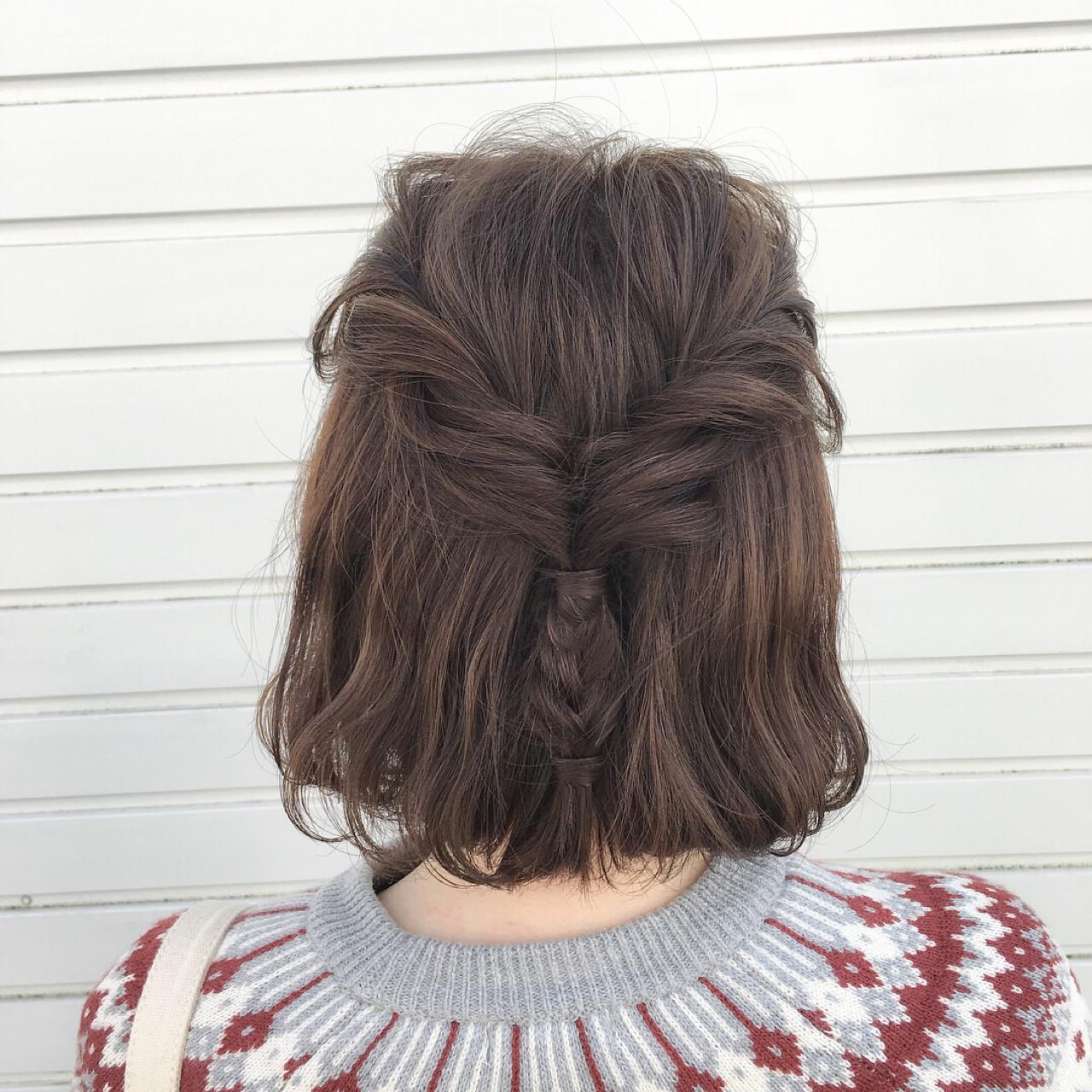 編み込みでパパッと可愛くヘアアレンジ♡ 水野靖己  レシェル多治見