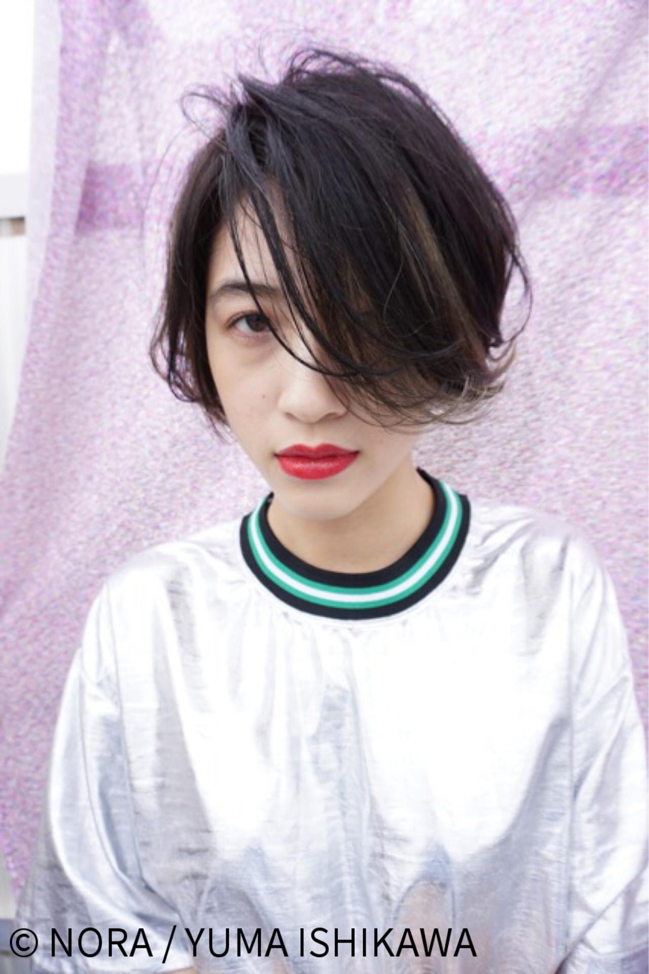 こなれ感たっぷりの黒髪前下がりボブ NORA / YUMA ISHIKAWA | NORA HAIR SALON