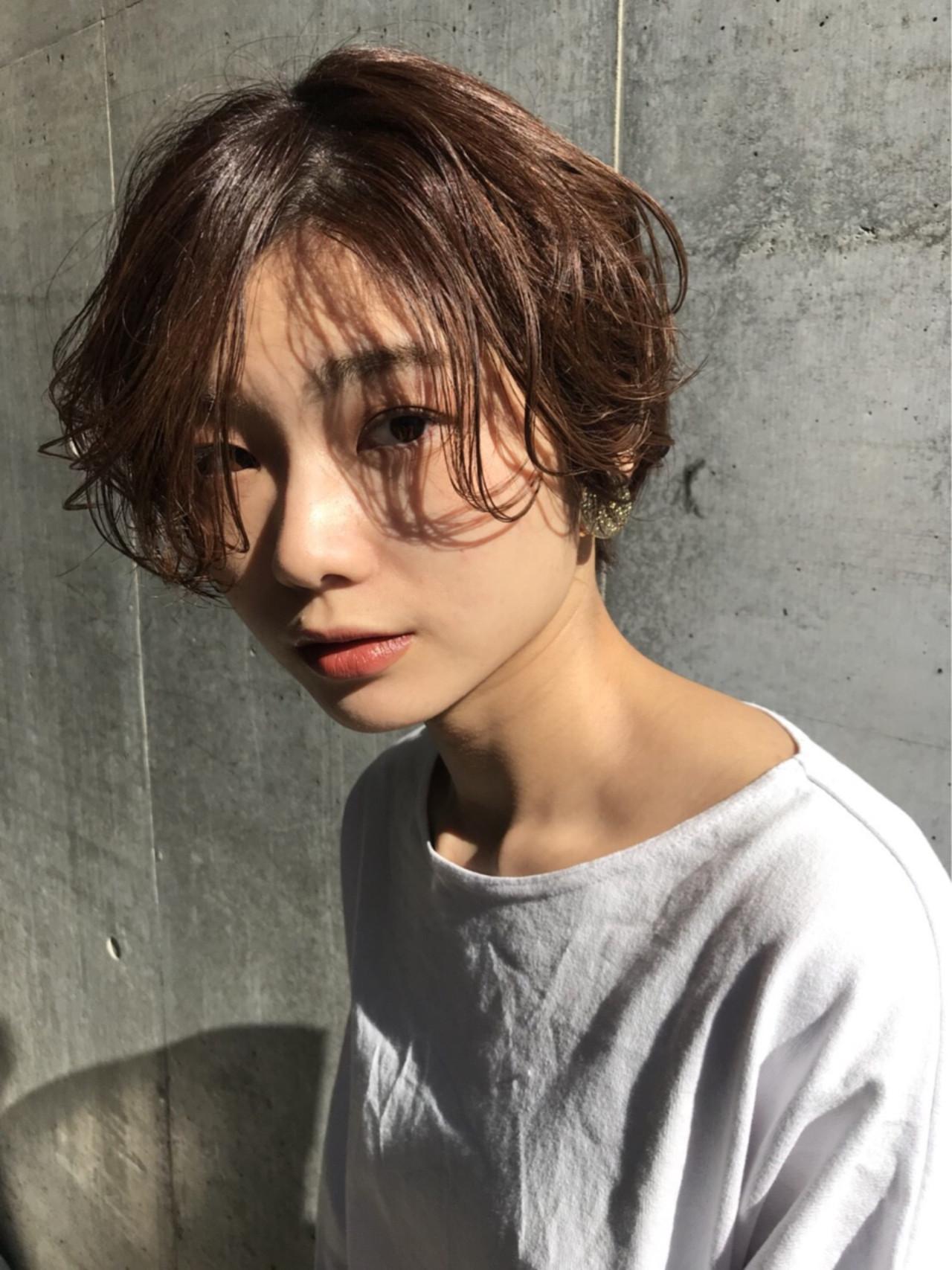 ショートさんのふんわりロング前髪ヘアスタイル Mari