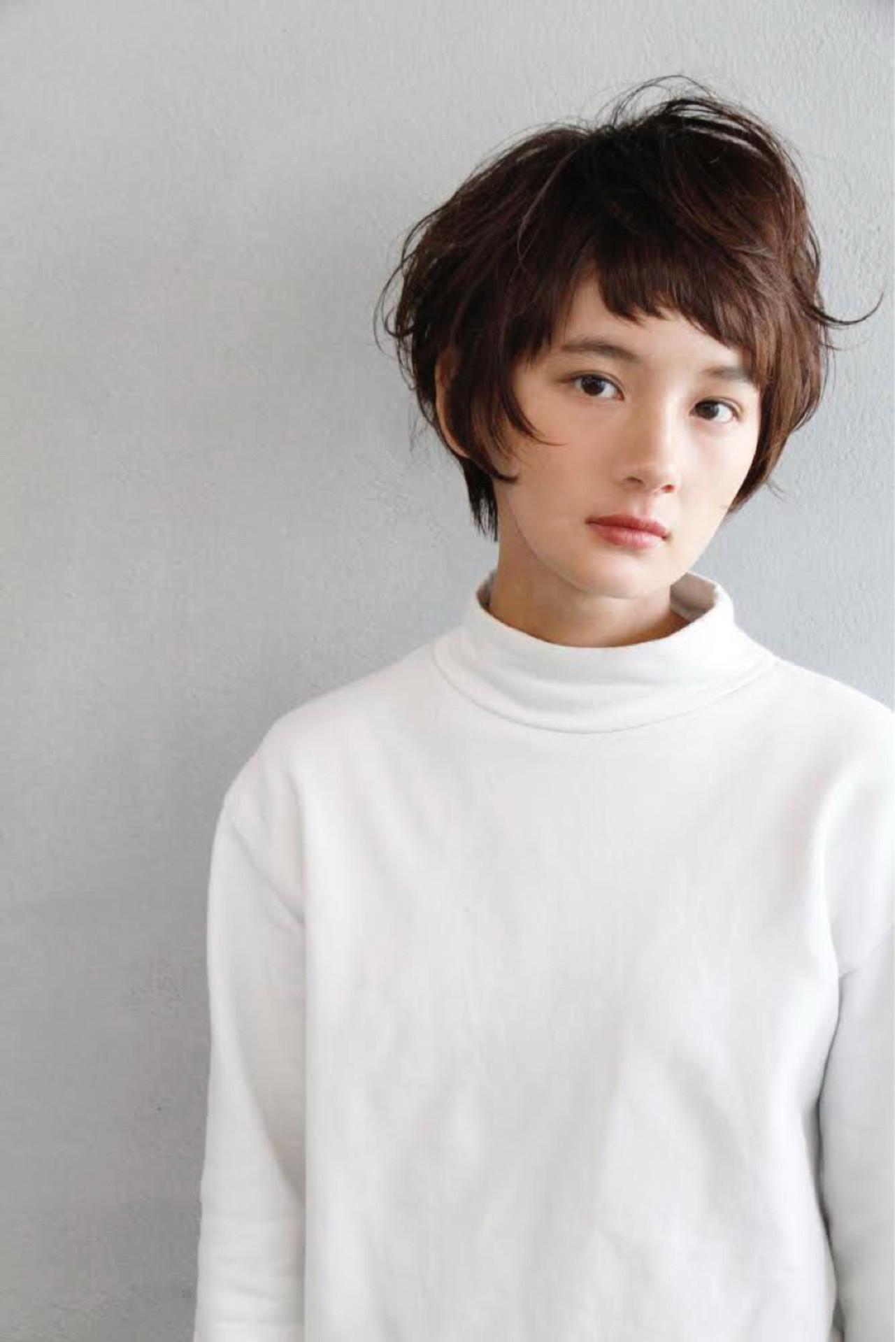 ショートさんのマッシュヘア×オン眉前髪 葛西 祐介