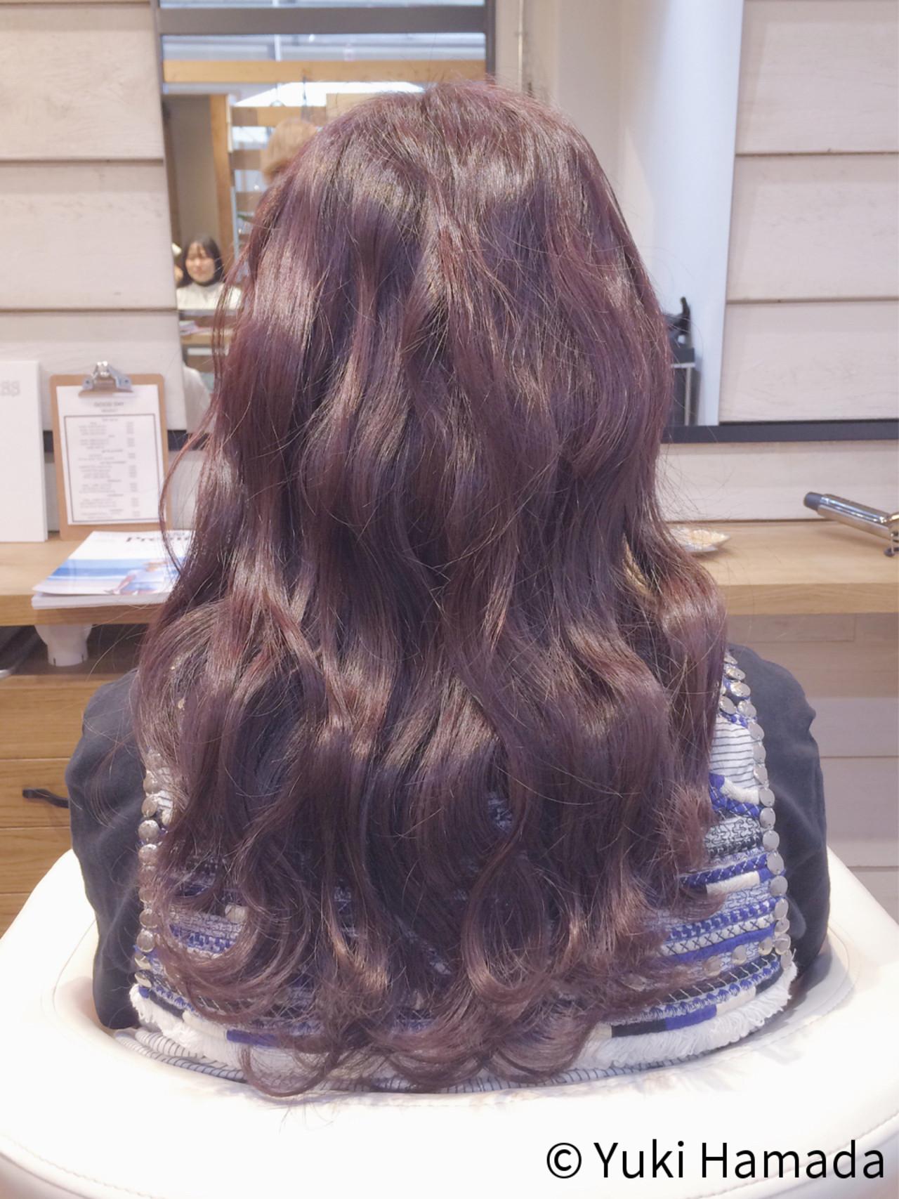暗めピンクブラウンヘアで洗練された印象に hamada yuki | good day hair