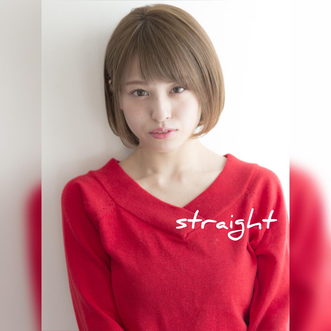 透明感のあるストレートボブが可愛い♡ ミネ ヒロ