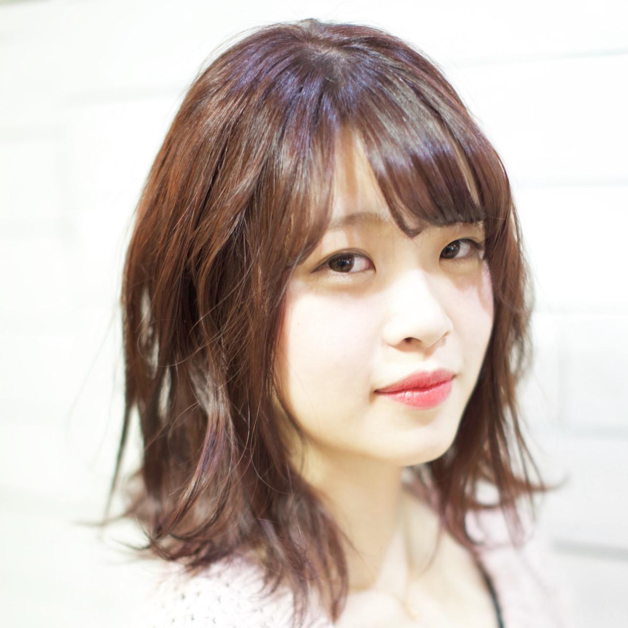 ベリーピンク×ブラウンのおしゃれヘアスタイル 武久 誠 | savian hair garelly