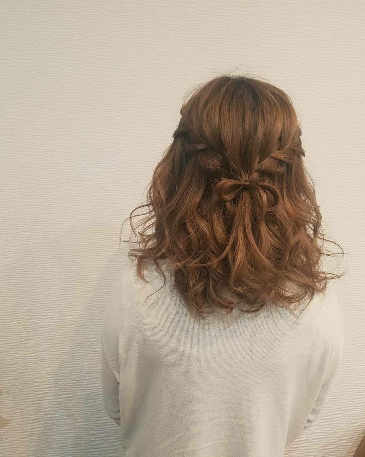 後ろ姿のさりげないリボン結びがポイント♡ mai | HAIR SALON STELLA