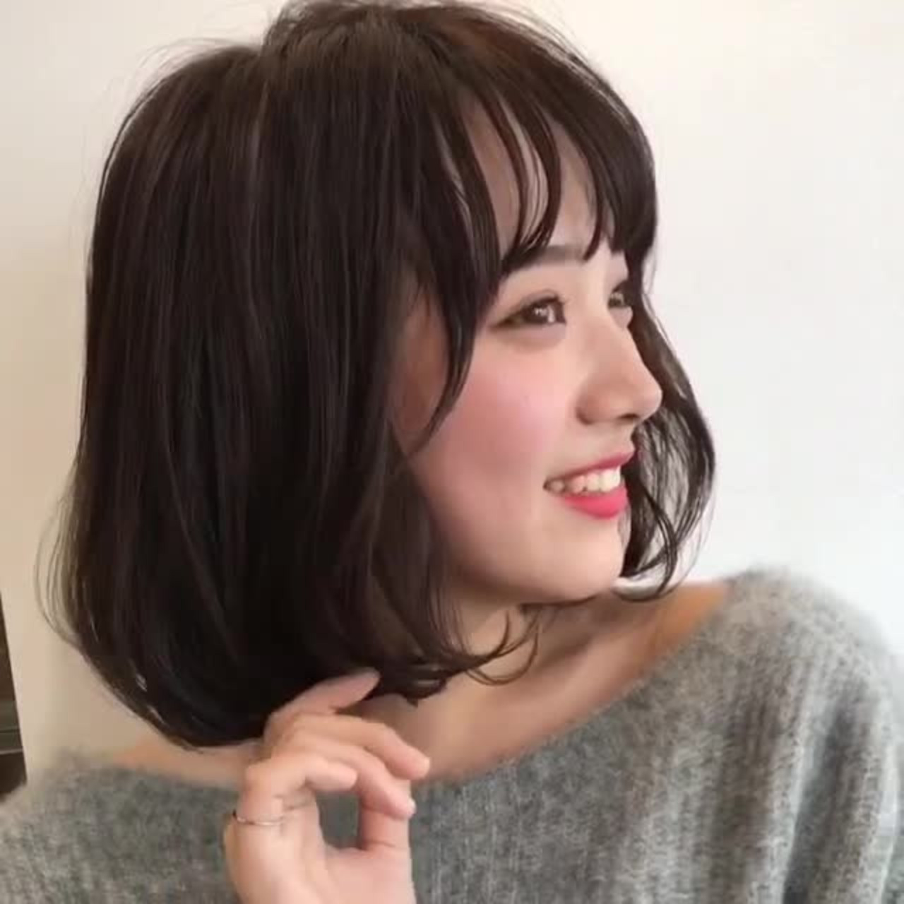 王道のモテスタイル♡黒髪ふんわりボブ GARDEN harajyuku 細田