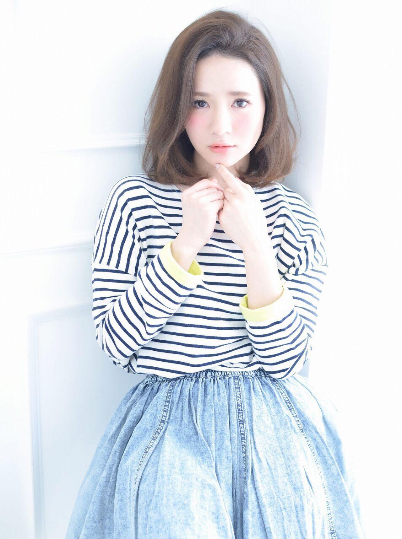 内巻きカールが優し気なロブスタイル 清井 慎二 ☆Dice☆ | Dice
