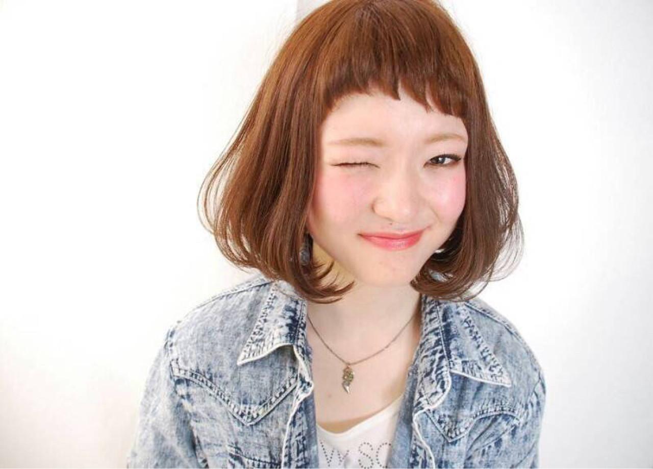 ハッピーな雰囲気のある短め前髪ボブ♪ 岡嶋 翔子
