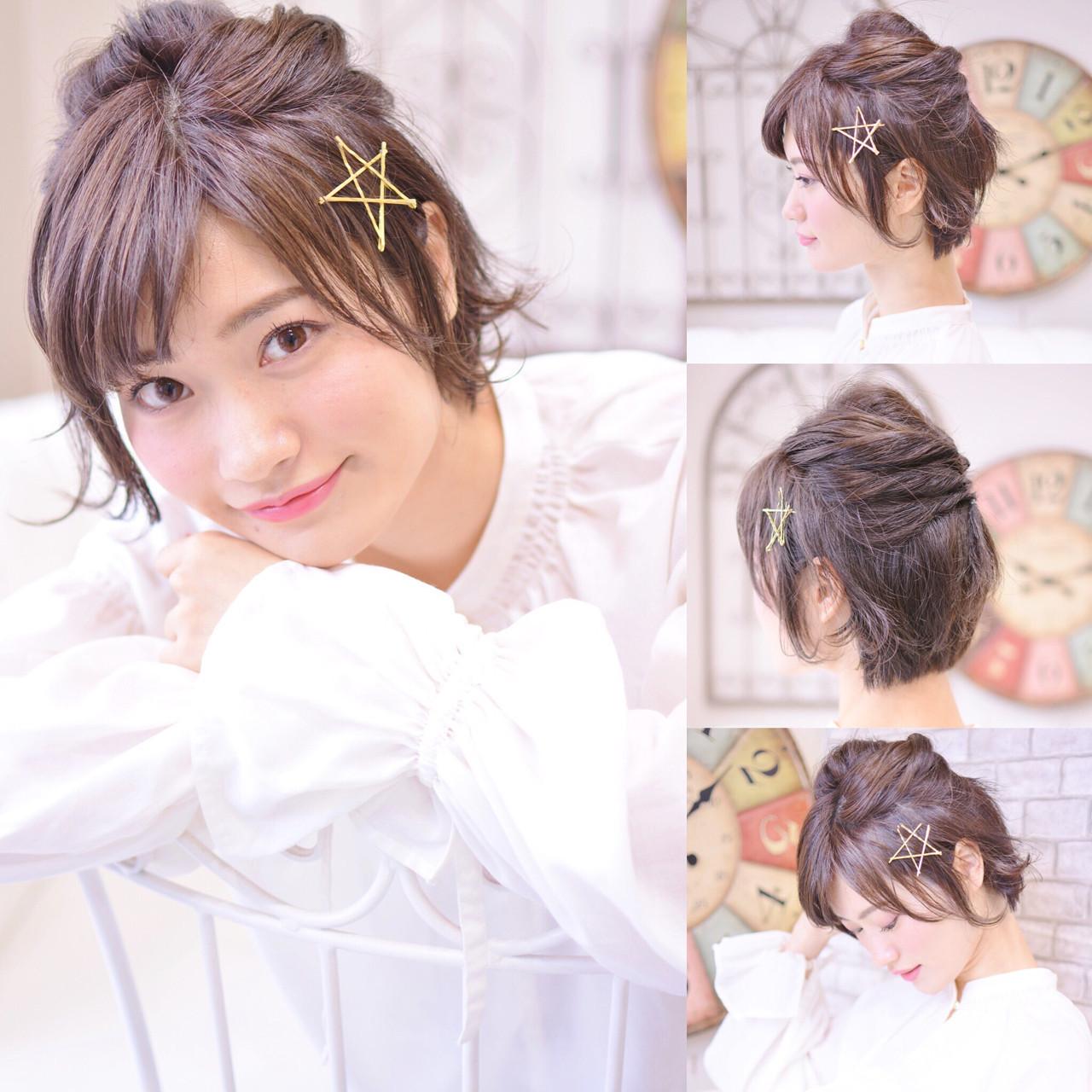ハーフアップなら、ハチ周りの広がりもスッキリ! Shiko Kajihara