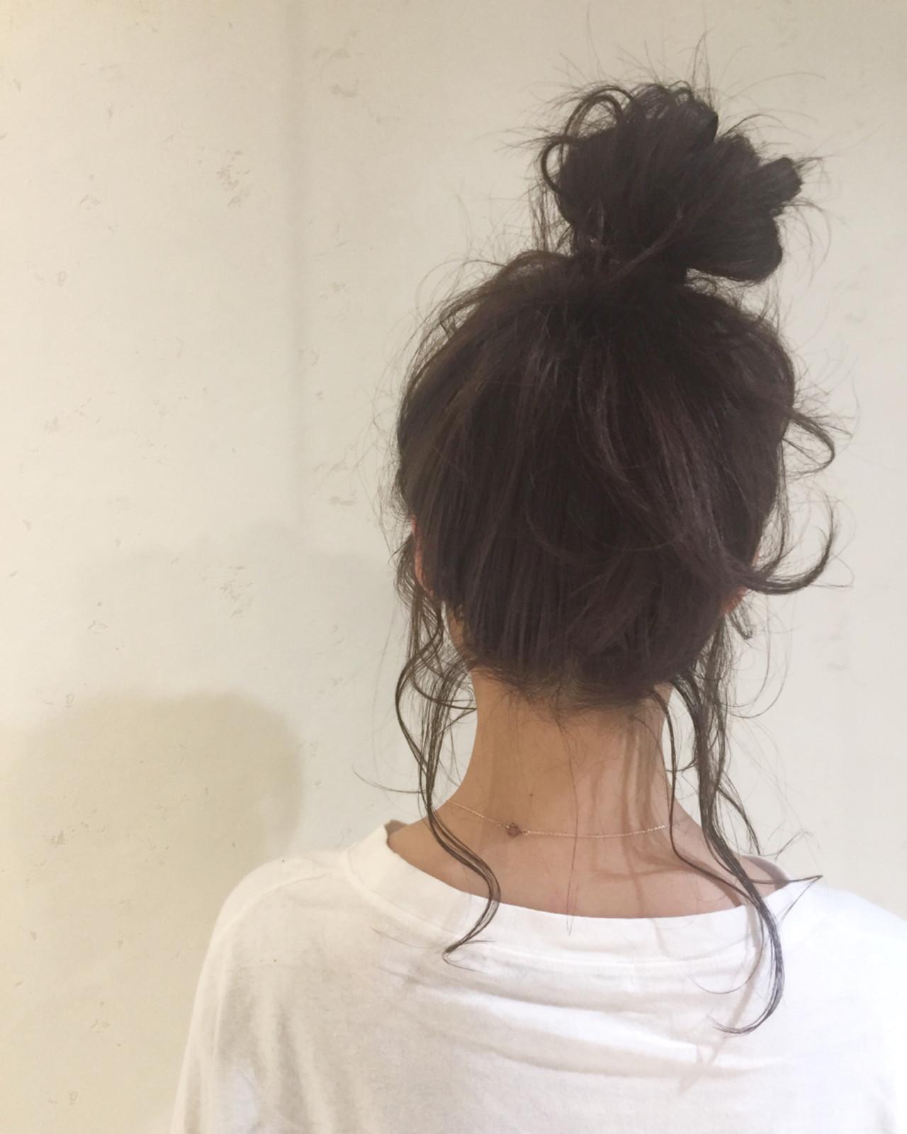 ヘアアレンジ ガーリー ミディアム 春 ヘアスタイルや髪型の写真・画像