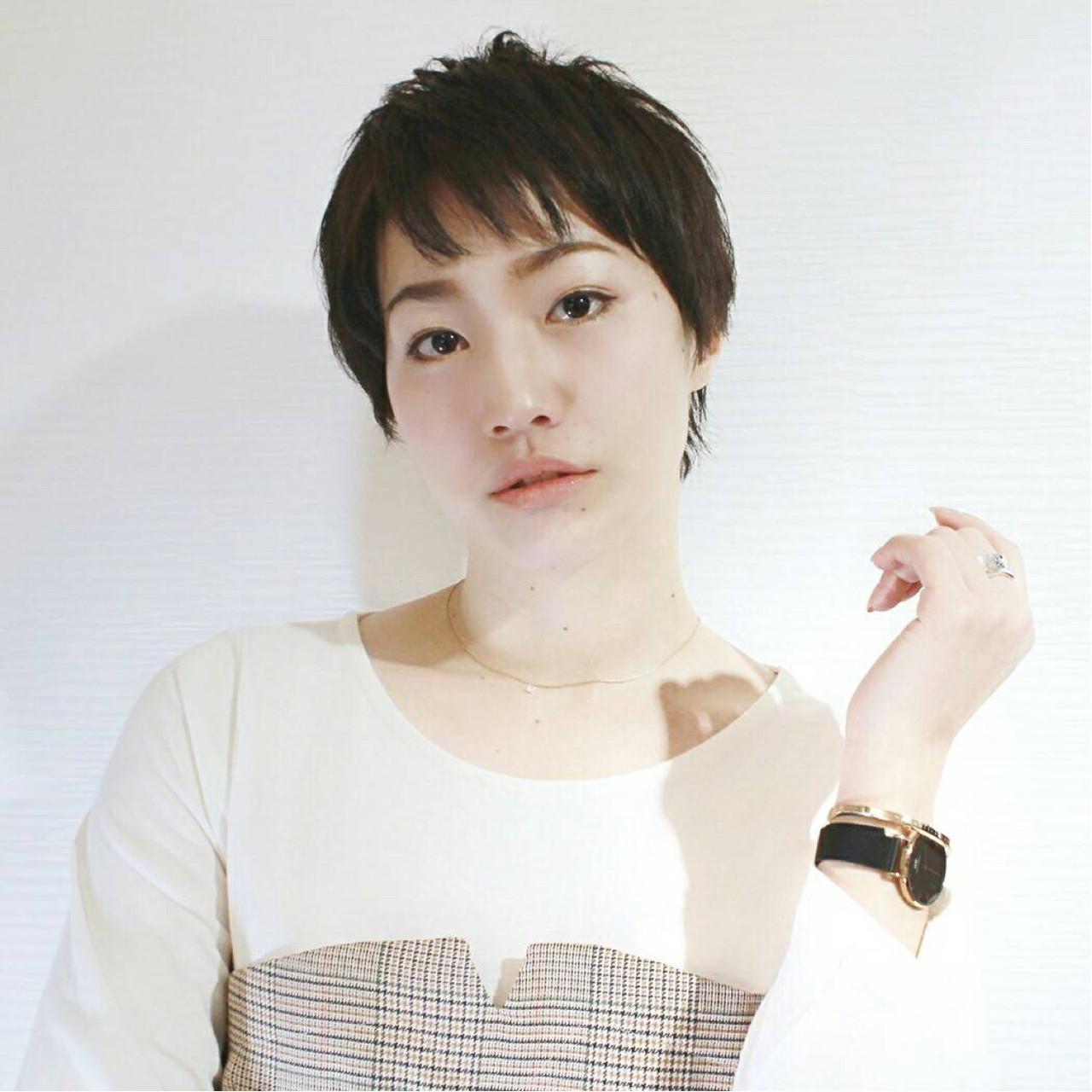 前髪の束感で抜け感のあるスタイルに♡ KAHO YANAGIHARA