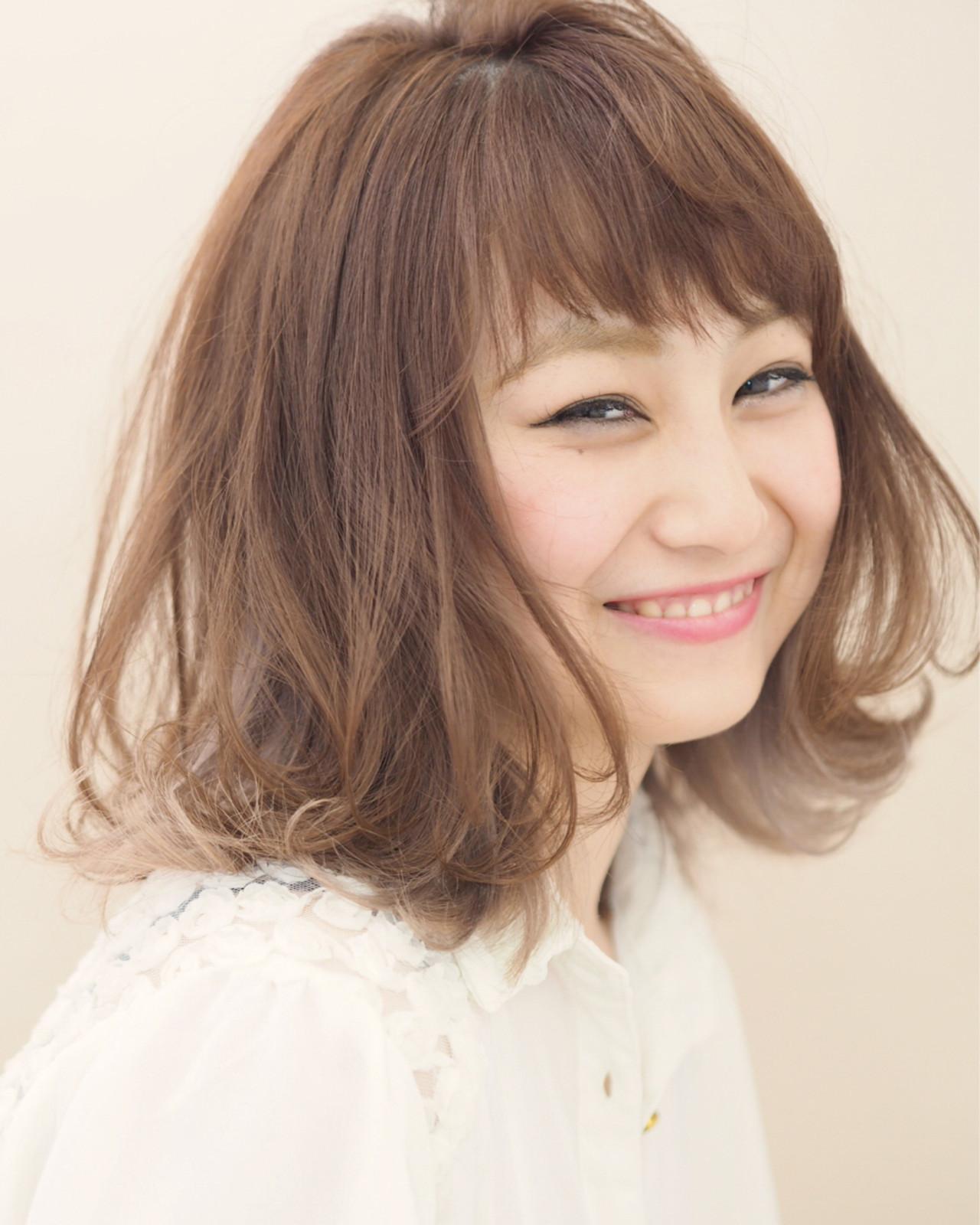 少女のような可愛らしさが魅力の永作博美さん風ボブ 石川明