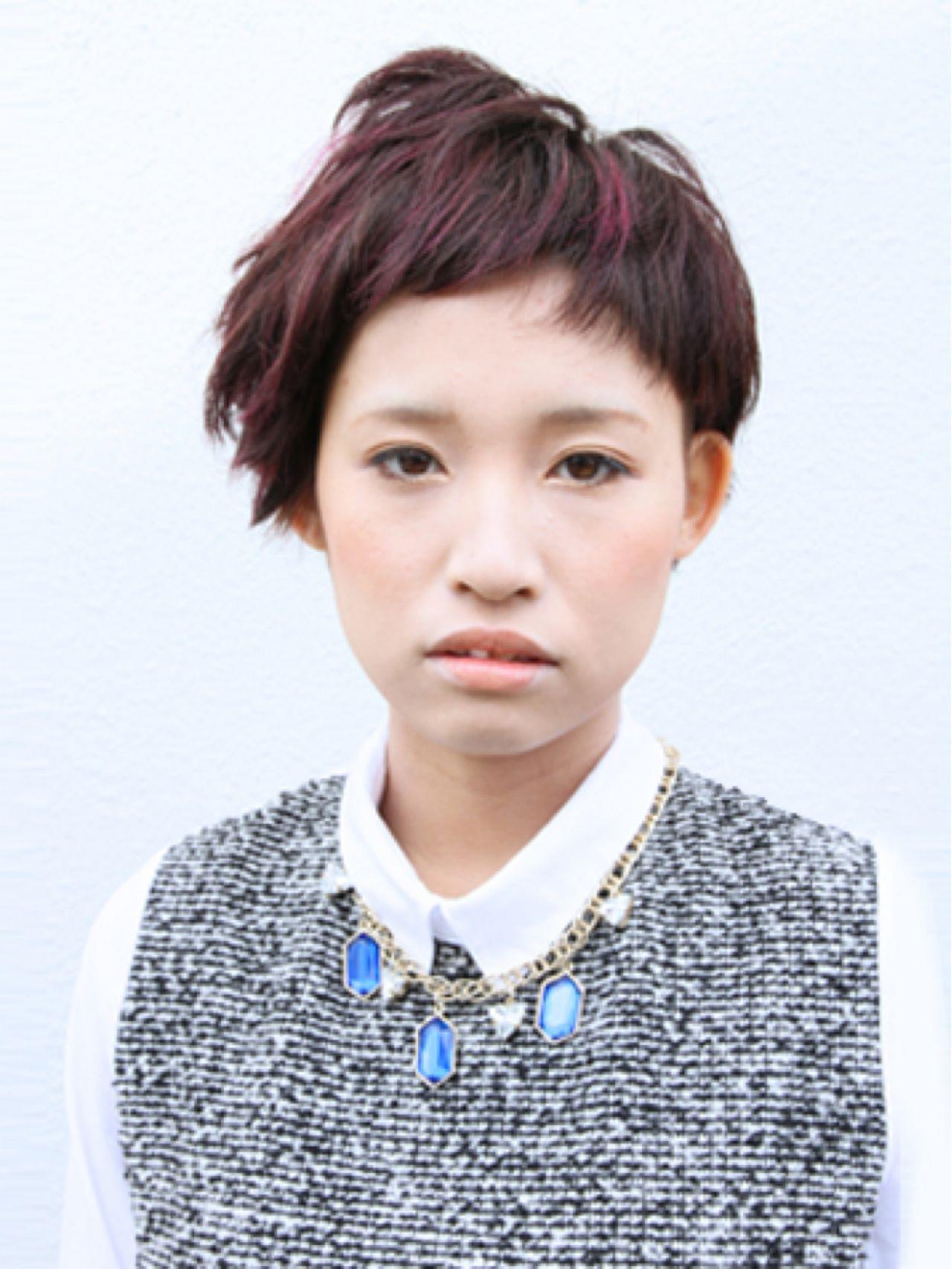 個性を思いっきり出したいならベリーショートで! Satomi Higashino | tranq