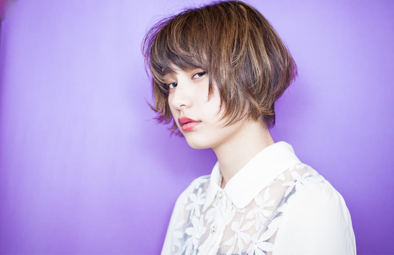 外ハネの無造作感がラフでかわいいショート 内田 一也 | hair/nail space a:le