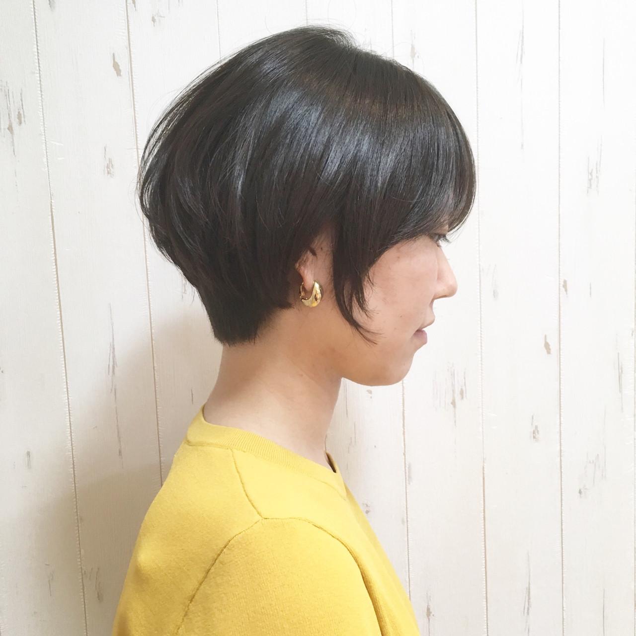 頭の形がきれいに見える黒髪ショート 我妻智紀 | HALE