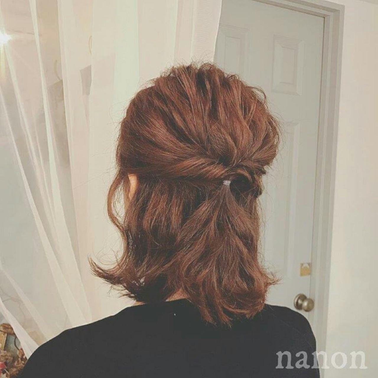 ウェーブ ヘアアレンジ アンニュイ フェミニン ヘアスタイルや髪型の写真・画像