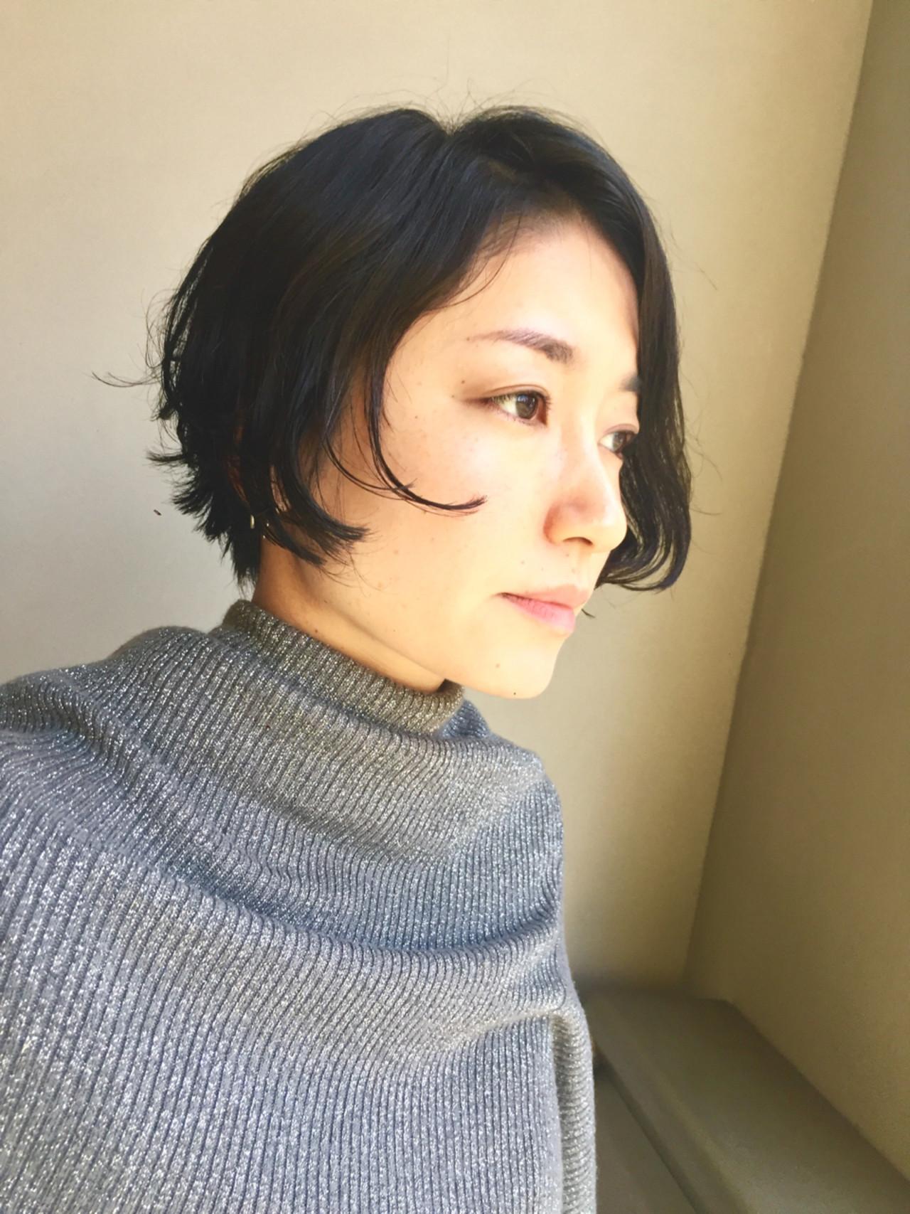 黒髪のふんわりボブは大人な品も演出♡ 岩城 浩子 | figue hair