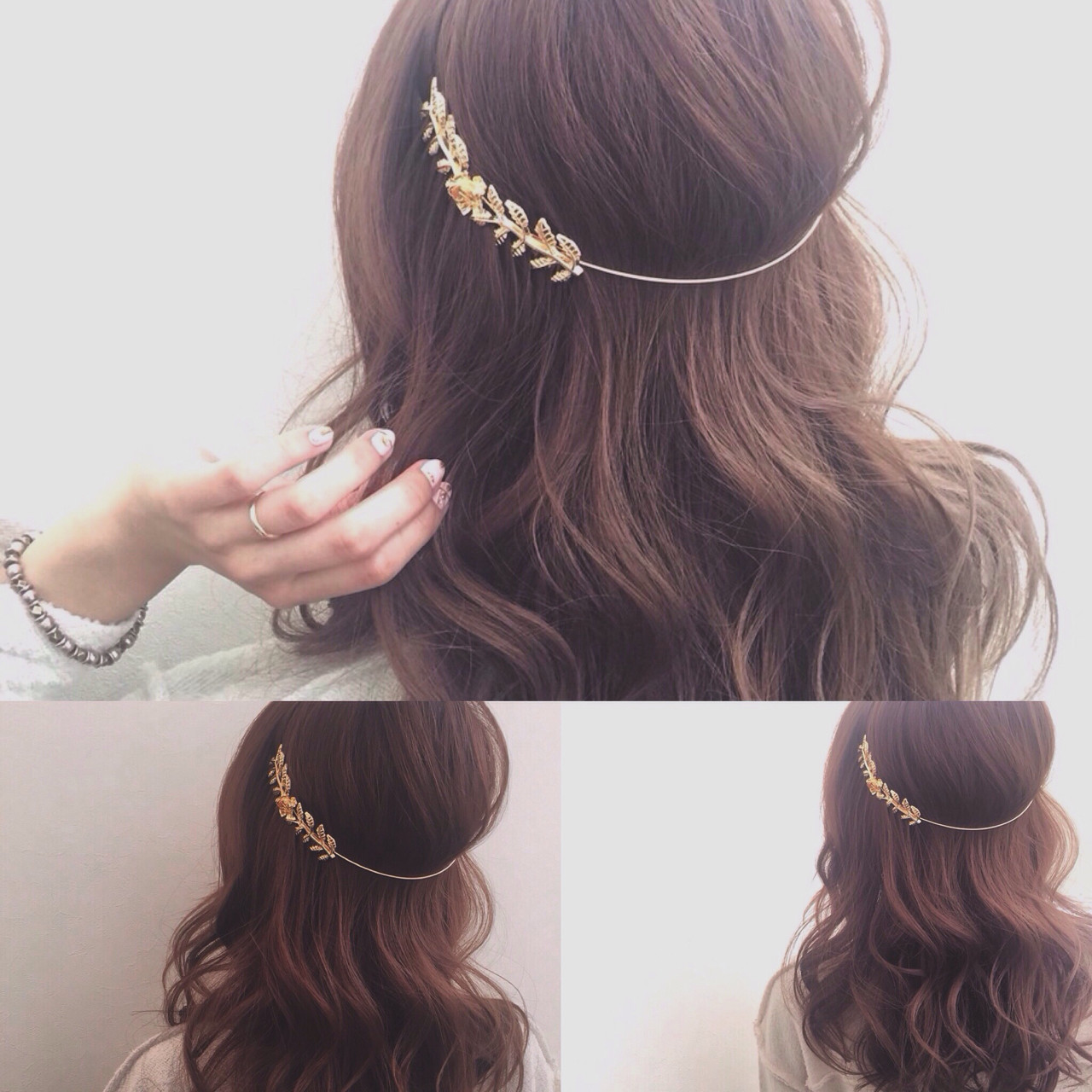 クリップ付きのバックカチューシャが便利 ryota kuwamura  函館/CALIF hair stor
