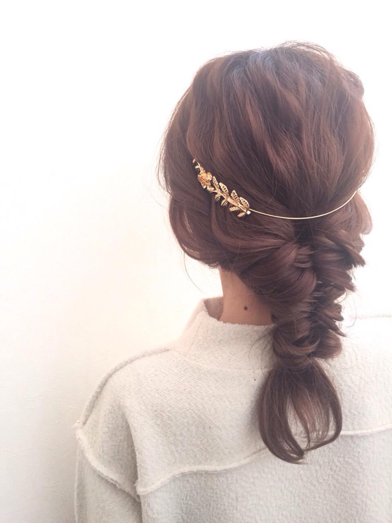 簡単フィッシュボーンにさりげなくつける♪ ryota kuwamura  函館/CALIF hair store