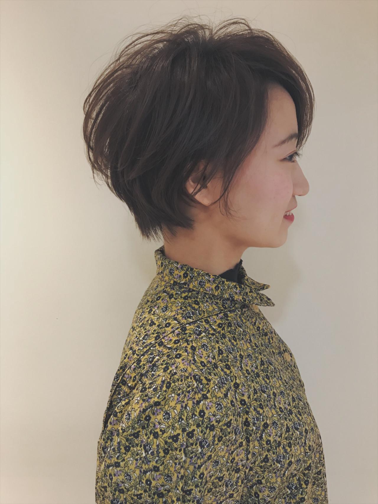 堀北真希さんのような雰囲気のショートカット 堀川 千枝