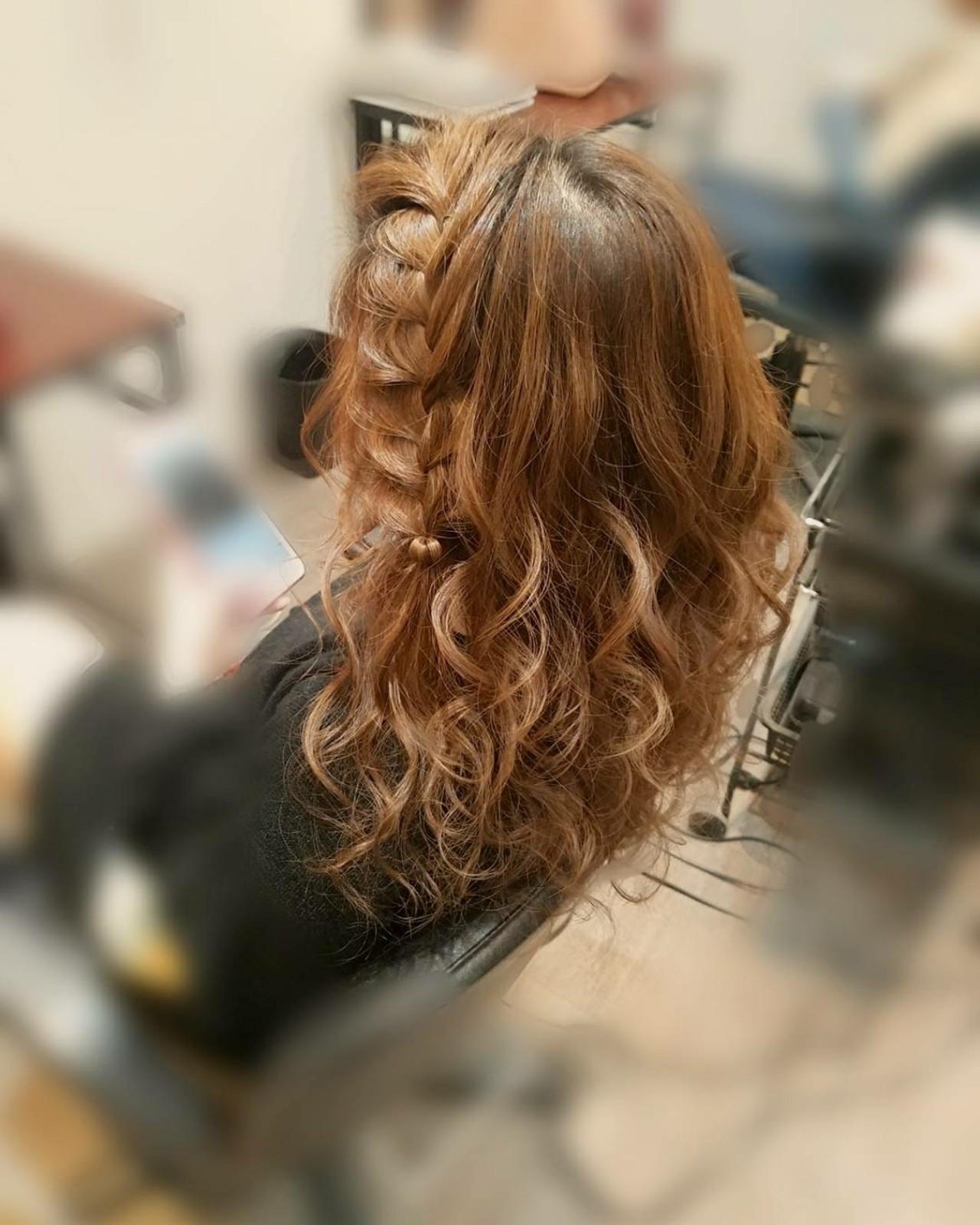 長い前髪は編みおろしでアレンジ mai | HAIR SALON STELLA