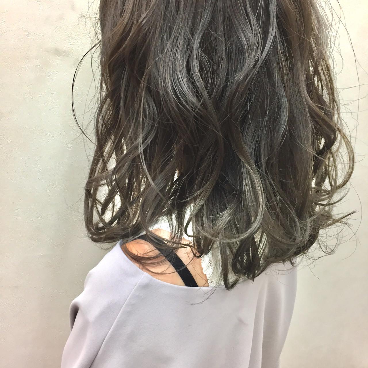 ミディアム丈×グラデーションがかわいい♡ 後藤菜々 | 電髪倶楽部street