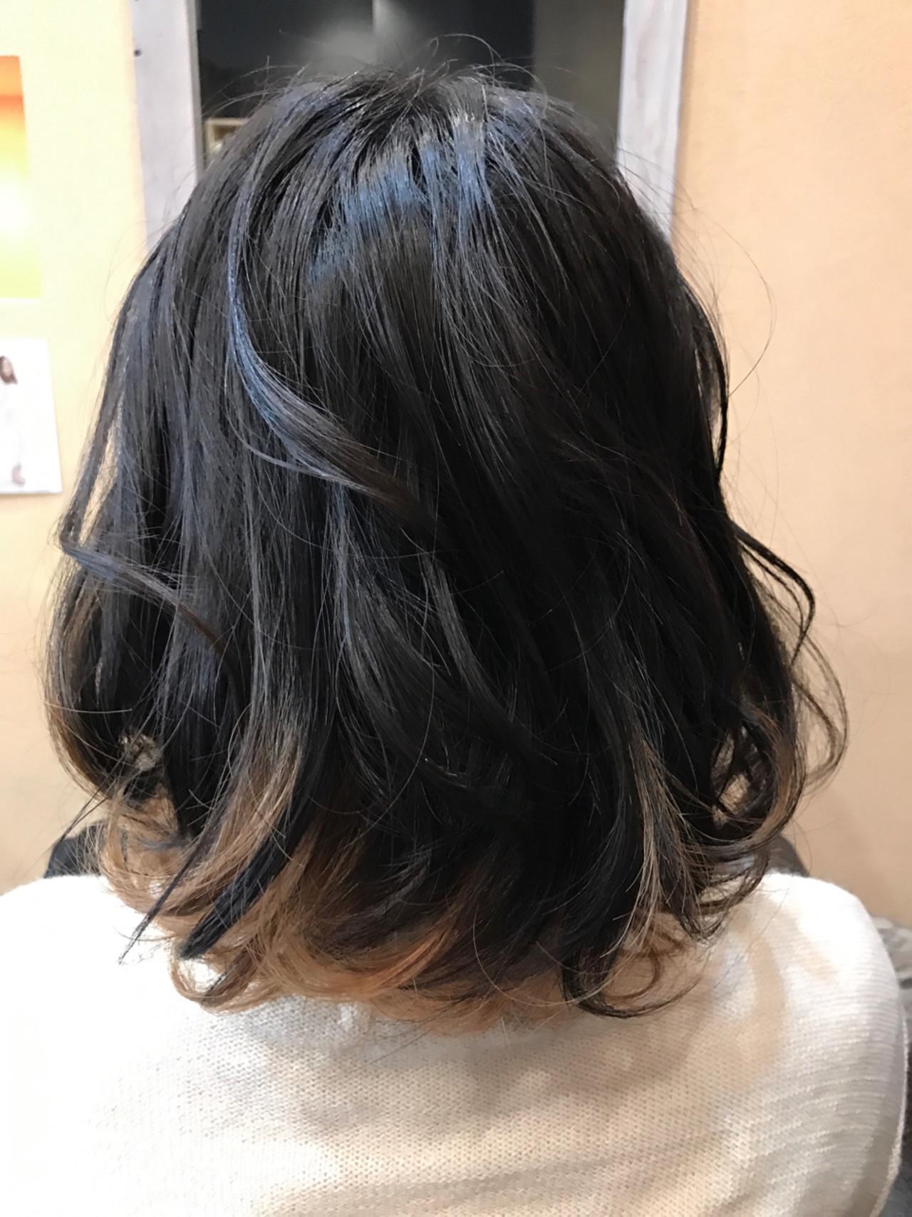 黒髪ベースなら、大人の女性にも最適♪ 平岩 泰明 | Aether