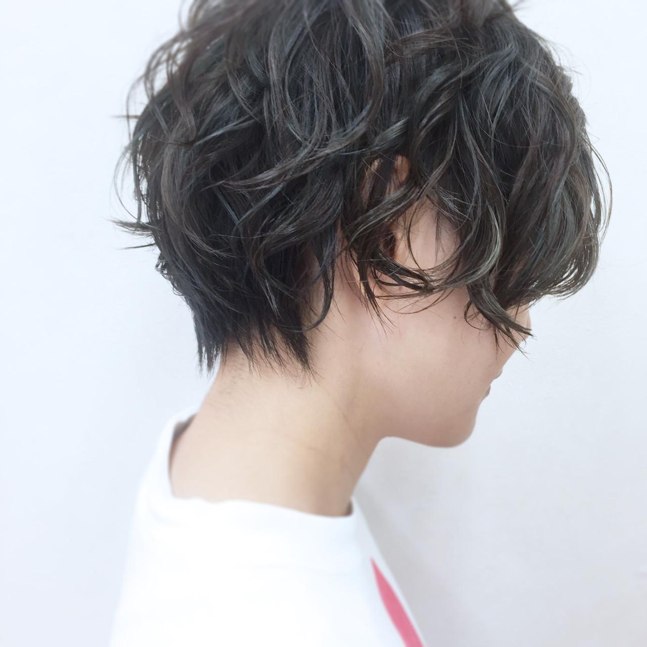 クールな黒髪ベースのマットグラデーション YSO | 電髪倶楽部street