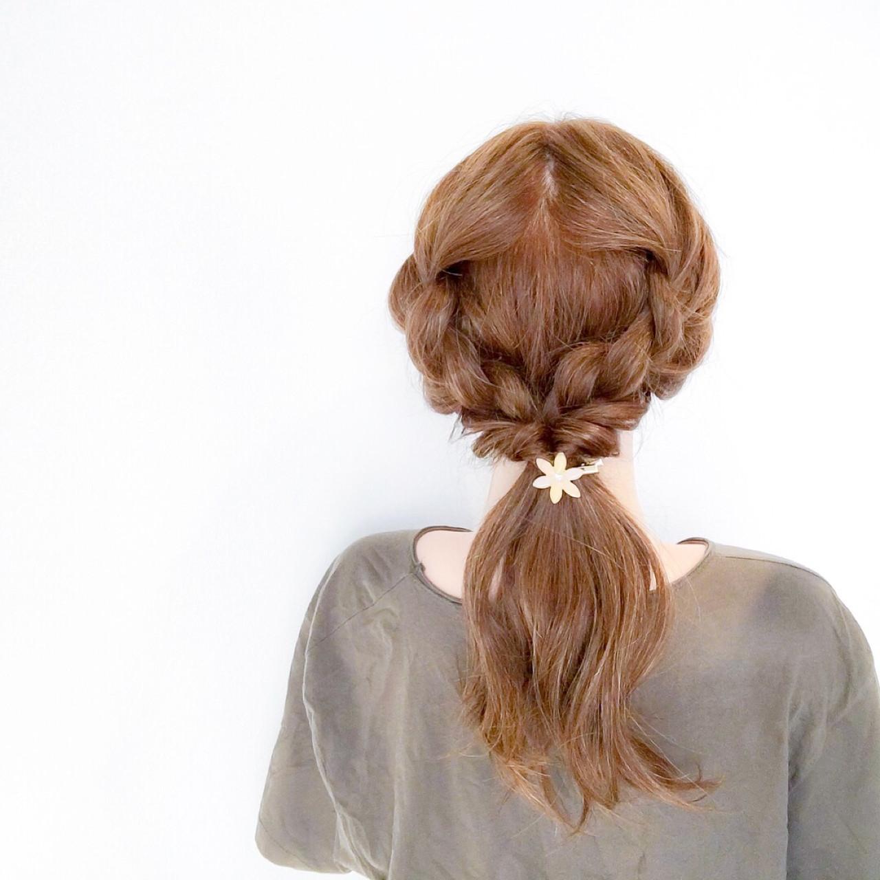 大人にも似合う簡単ヘアアレンジ 美容師 HIRO