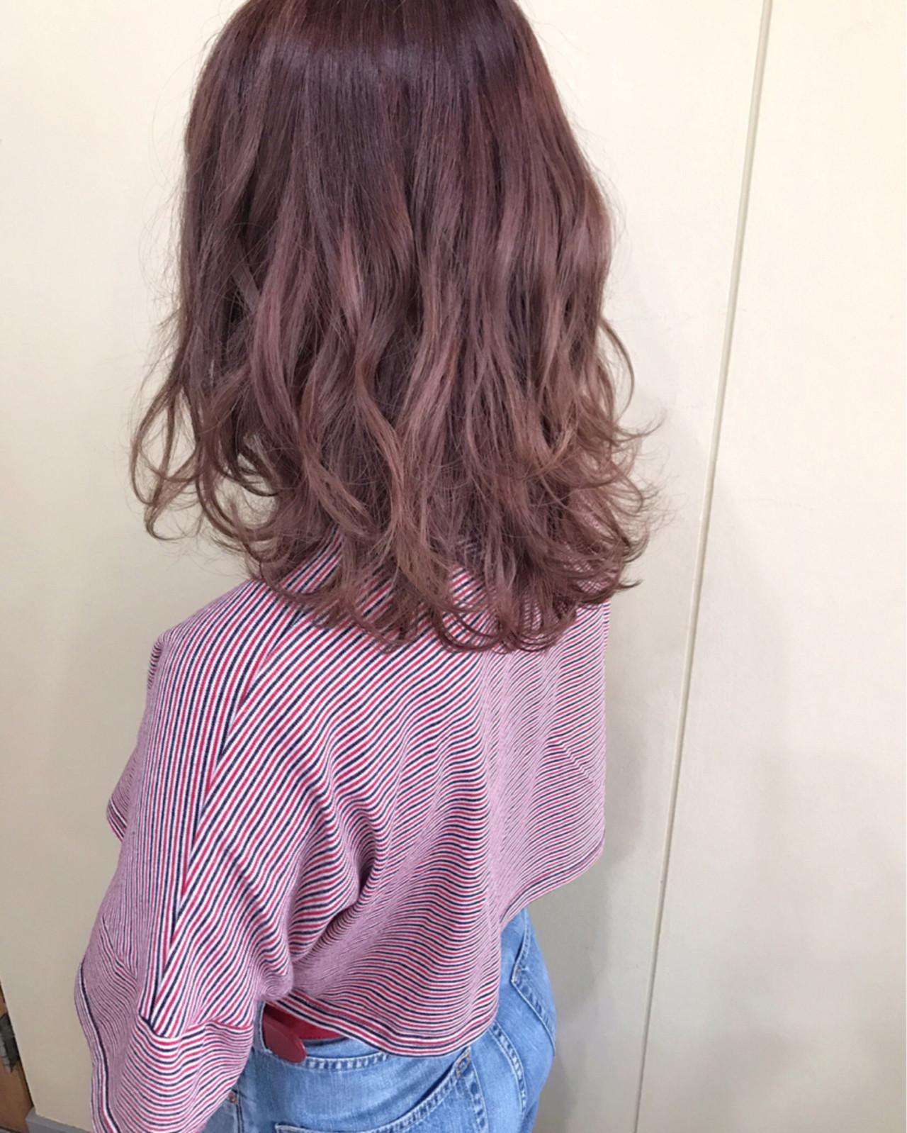 レッド・ピンク・パープル系カラー・ミディアム サワ