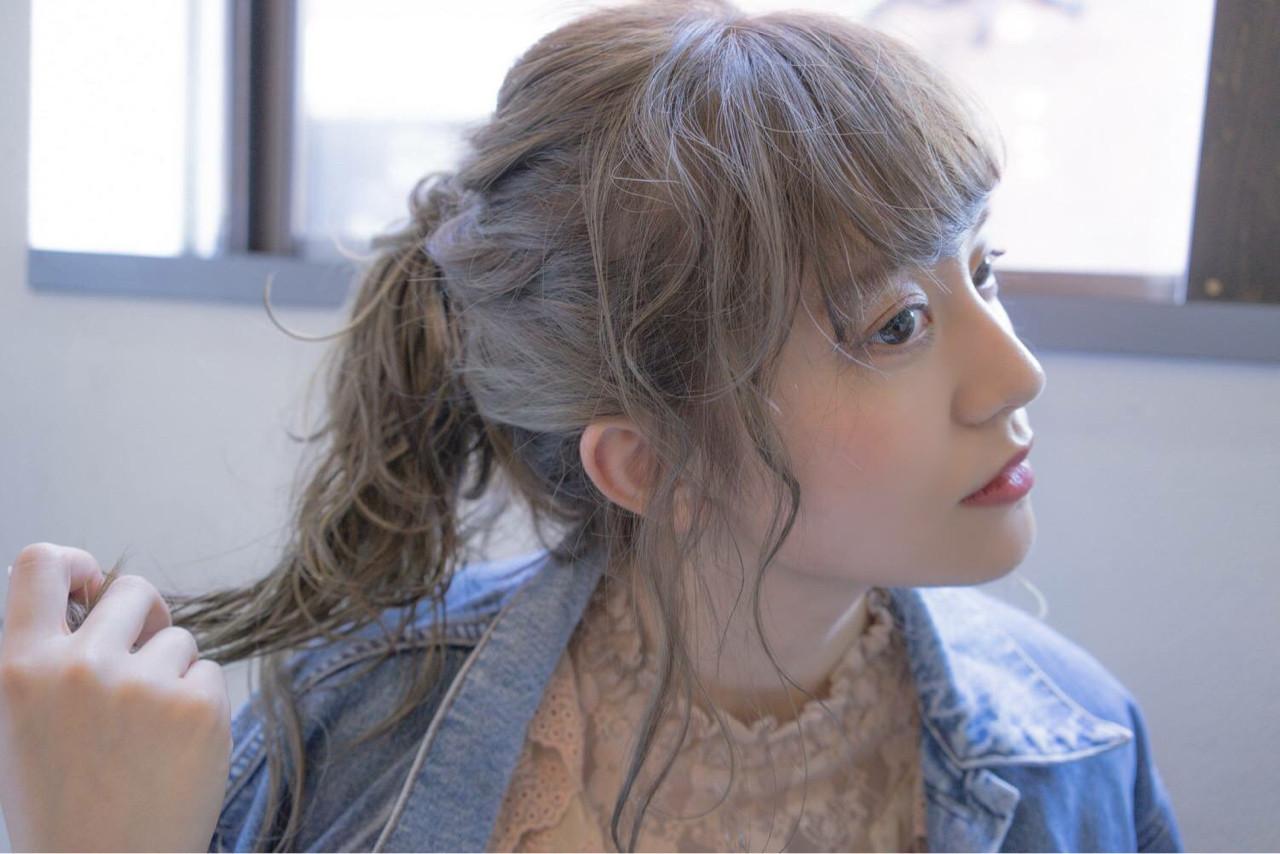 無造作に横髪を出して抜け感を演出♪ 桝田 由佳 | vicus hair