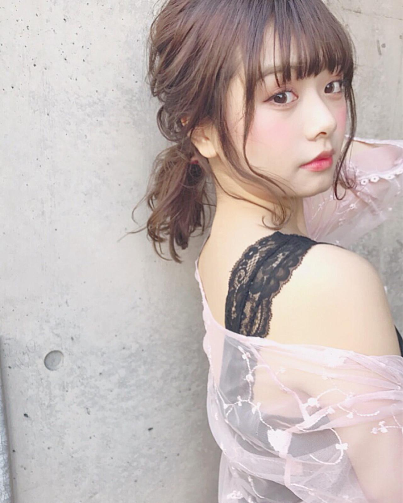 横髪をコテでワンカールすればおしゃフェロ♡ Wataru Maeda | cache cache