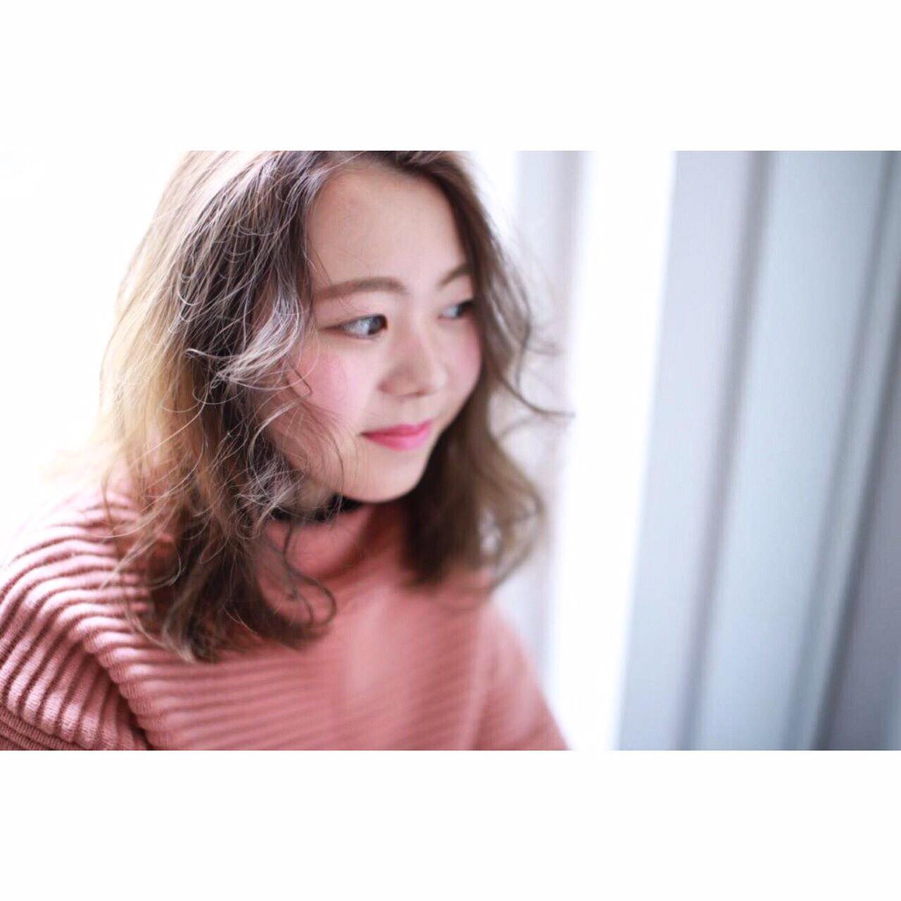 センターパート×ウェーブでアンニュイに Yumi Hiramatsu | HAIR&MAKE JOJI