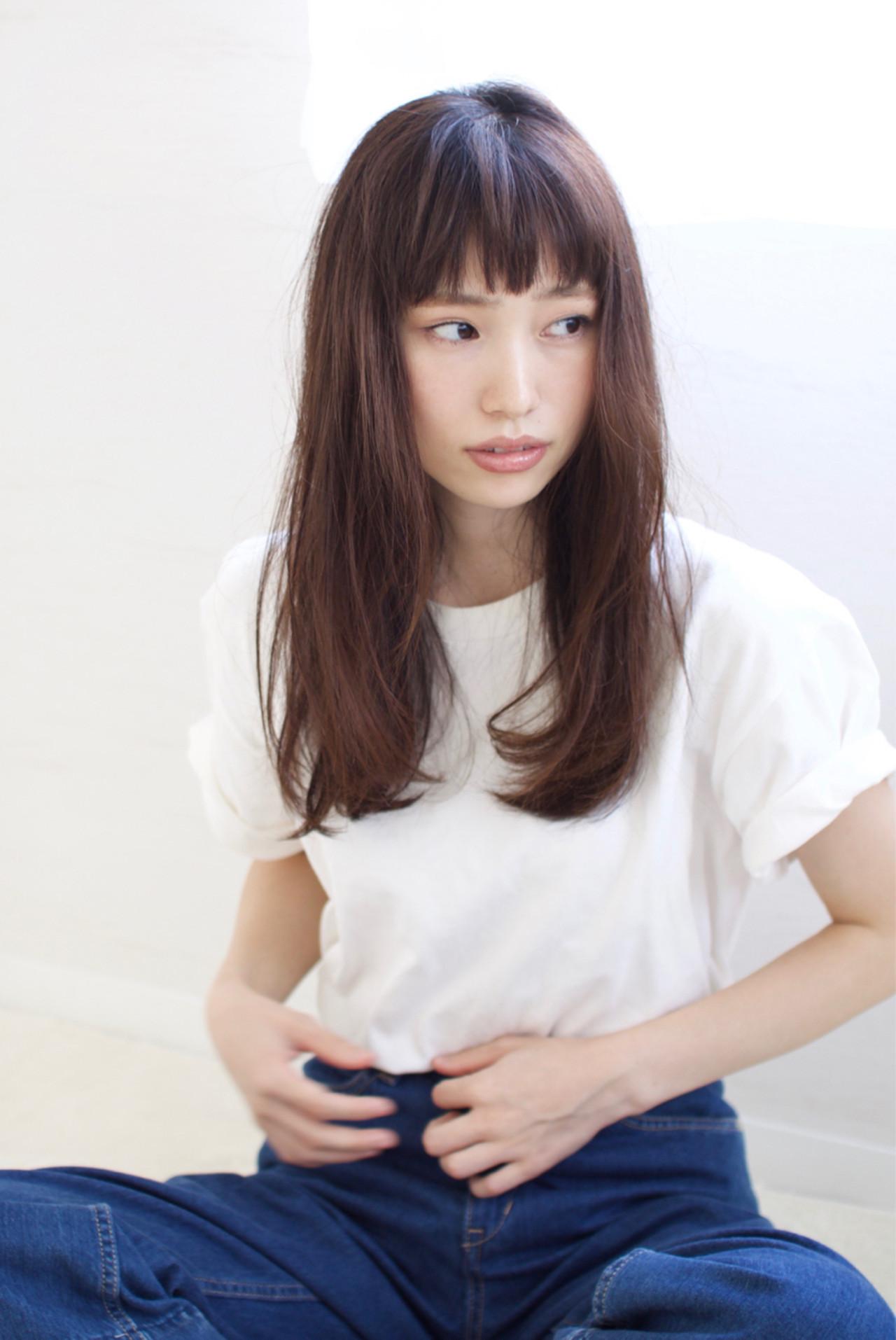 オン眉バングが大人かわいい桐谷美玲さん風 井手 博之