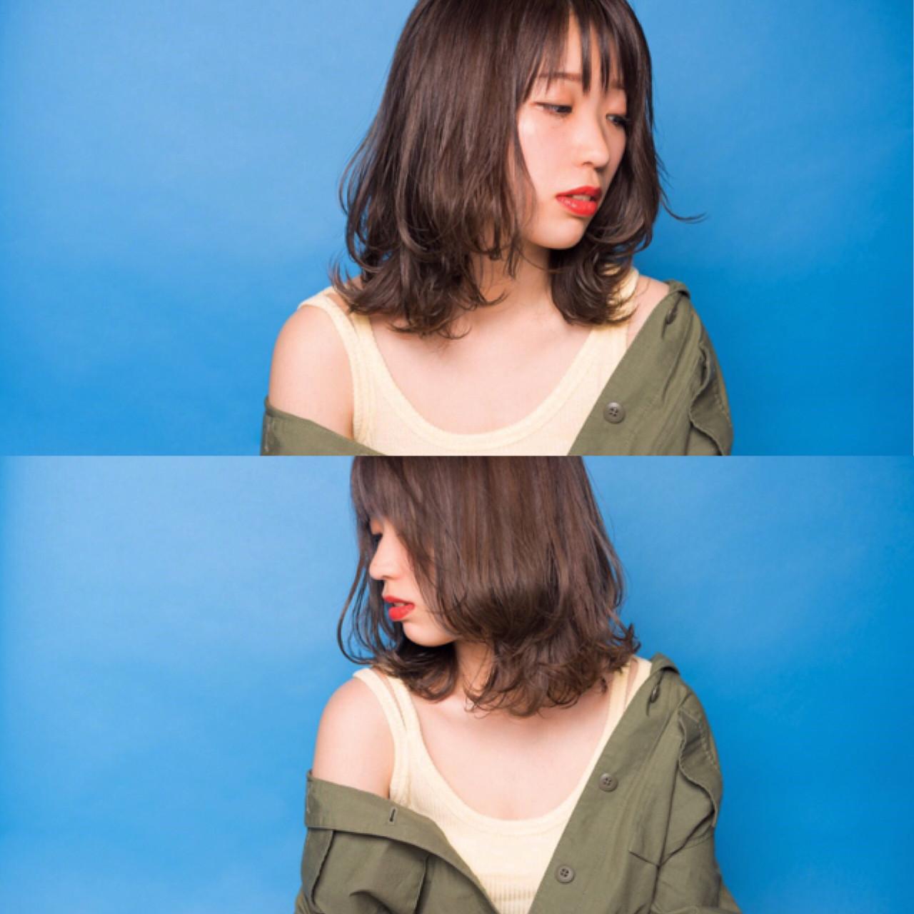 おすすめの外ハネレイヤーヘア③ 宮本英里香